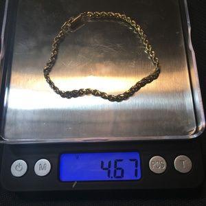 14KT 7 in Gold Rope Bracelet